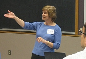 Joyce Statz in the process of teaching process.