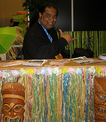 Ka'awa was there promoting a tour of singers from Hawaii.