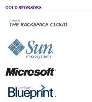 Rackspae, Microsoft and Sun find themselves in good company :)
