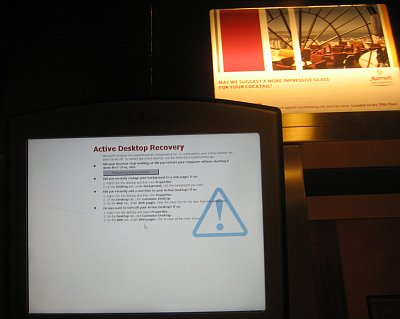 Ooops, time to reboot the elevator.