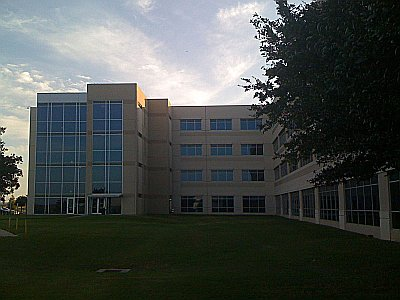 Parmer 2, the building I work in. (Note the clouds. Coincidence? I think not)