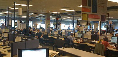 One of the call centers for customer support.