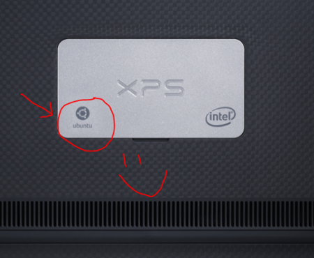 The Ubuntu logo graces the base plate of the XPS 13 developer edition
