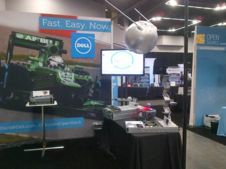 Sputnik satellite spotted hovering above Dell booth on the floor at the OpenStack summit.