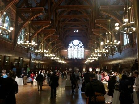 The exhibit hall at the Harvard IT summit